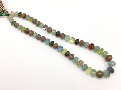 Mixed Gems Multiple Beads Gemstones Necklace Natural 16inch 333carats 1strand