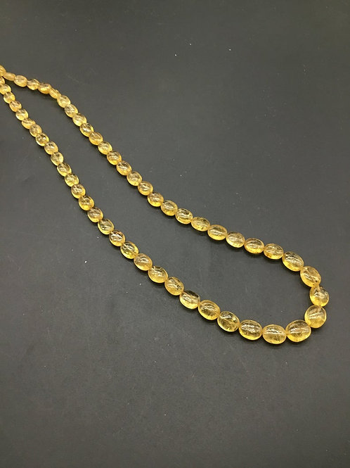Imperial Topaz Ovals / Beads Shape A Quality Natural Gemstone Necklace 16 ''