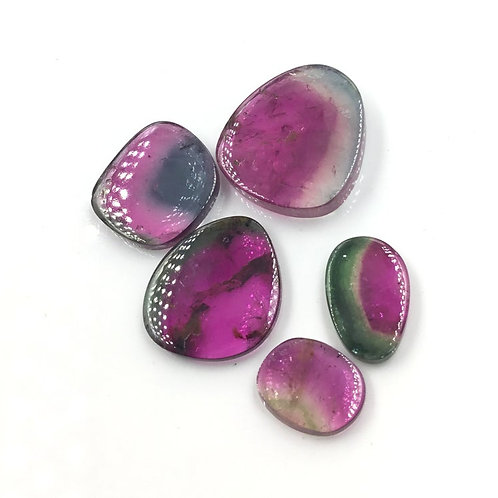 Tourmaline Watermelon Rare Bi Coloured Slices