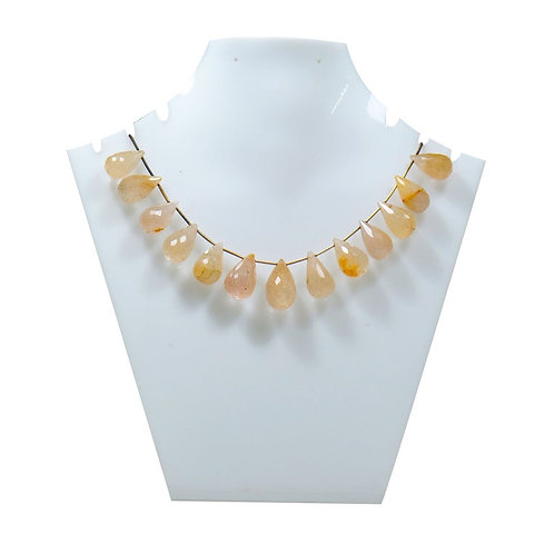 Rutile 8'' - Brazil Faceted drop Gemstone 1 Strand  Jewelry Beads Natural