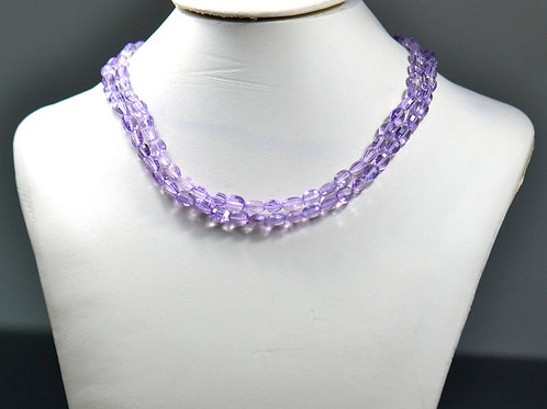 Pink Amethyst !! - 16'' Faceted Oval 1 Strand Gemstone Jewelry Beads
