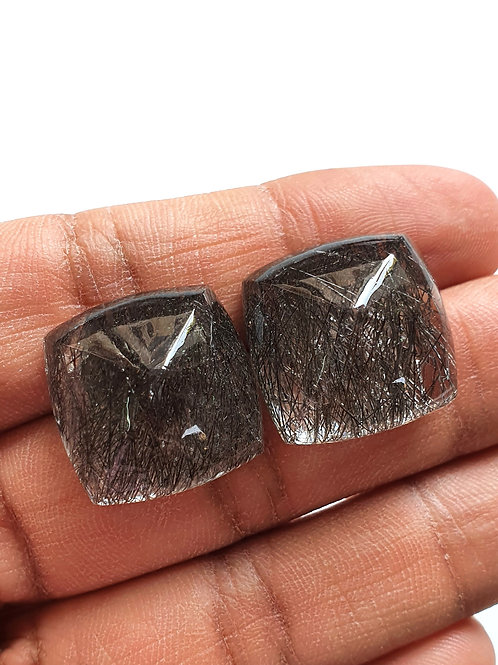 Black Rutile Sugarloaf AAA Quality Gemstone