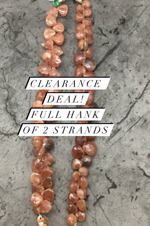 Closeout Sale price Sunstone fancy 2 strands full hank wholesale closeout deal