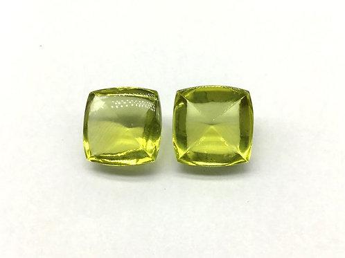 Lemon sugarloaf Quartz Sugarloaf Pair set Natural gemstone Jewellery Making