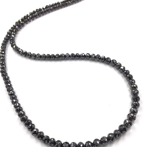 Black Diamond Balls Beads16 Inches 3 To 4.5mm Approx 50 Carats 1 Strand