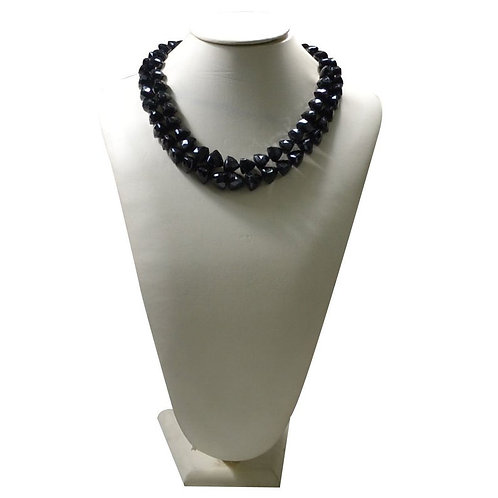 Black Spinal - 16'' India Faceted Candy 1 Strand Gemstone  Jewelry Beads