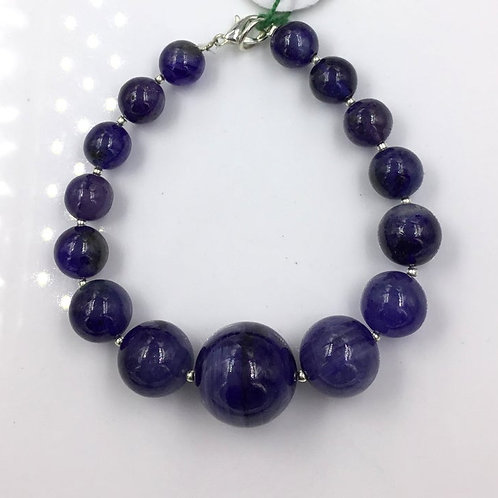 Blue Sapphire Glass Filled Treated Sapphire Ball Beads 255.90, Size =9 To 18 MM