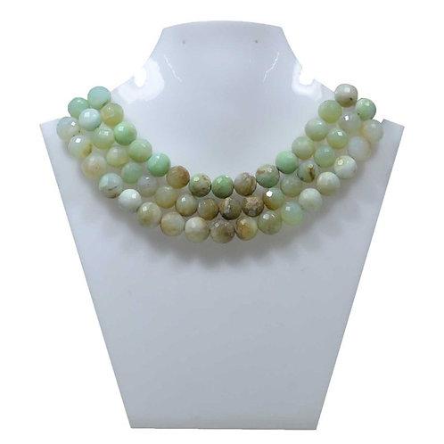 Blue Opal - 8'' Peru Faceted balls 1 Strand Gemstone Jewelry Beads Handmade