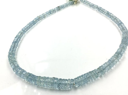 Aquamarine Faceted Beads 1 Strand Natural Gemstone