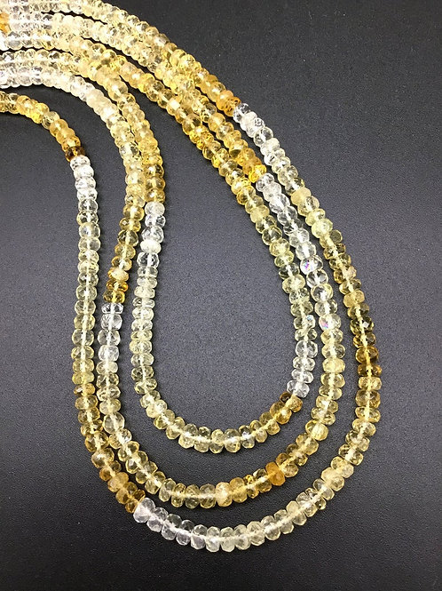 Citrine Shaded 20 '' Faceted Beads 1 Strand 115 Ct 4 To 5 MM Natural Gemstone