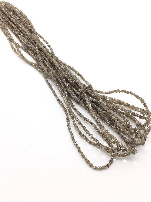 Brown Diamond uncut beads 1strand