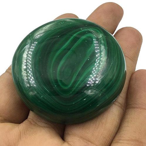Malachite Natural Gemstone Big Size Round Shape Tumble Size 55 mm , 641.30 Ct