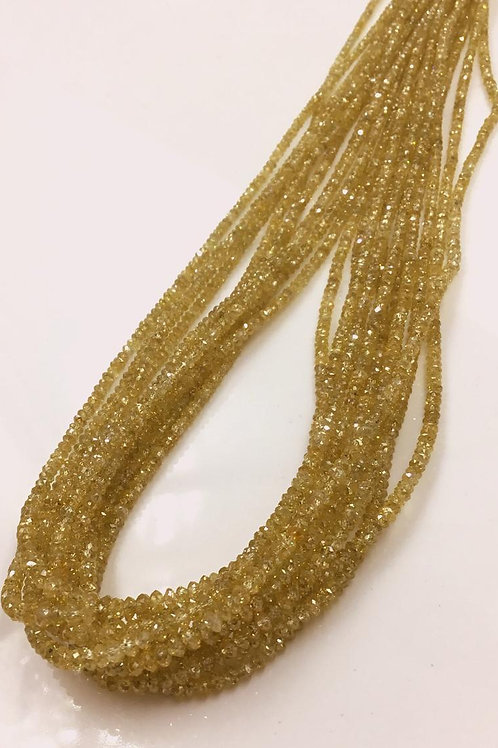 Orange Diamond Beads 16 Inches 1.5 To 2.5 mm Approx Top Color Beads 1 Strand