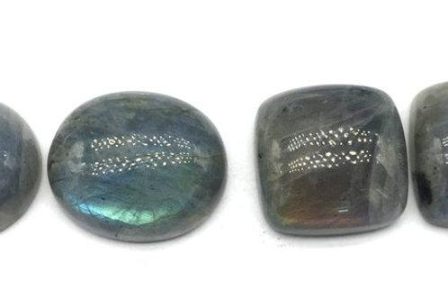 Labradorite Smooth Cushion/Oval BIG SIZE 4 PCS Gemstone Loose Gemstone