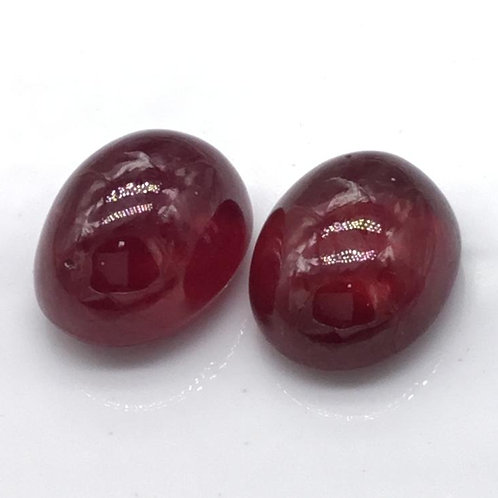 Ruby Cabochon Gemstone Pair, ruby earrings/ rings jewelry making, natural