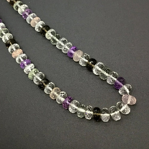 Multi Quartz 16 '' Faceted Beads AAA + Quality 1 Strand 227 Ct Natural Gemstone