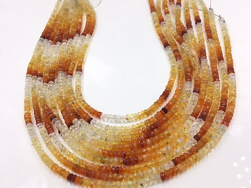 Mexican Fire Opal Shaded Faceted Beads 1 Strand Natural Gemstone