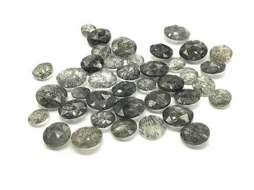 Rutile Rosecut Gemstone Faceted Round Shape Loose Gemstone Jewellery Making