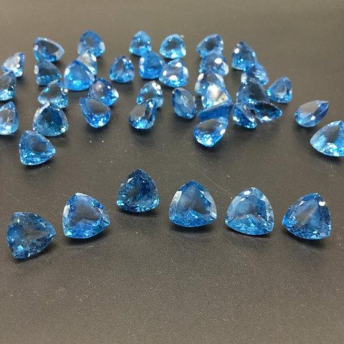Sky Blue Topaz Top Trillion Cut Shape Top Cut 1 Piece 9carats approx. Top Ring