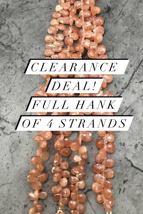 Closeout Sale price Sunstone mix 4 strands full hank wholesale closeout deal