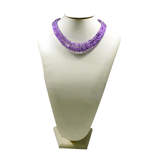 Pink Amethyst - 16'' Brazil Faceted Beads Natural 1 Strand Gemstone