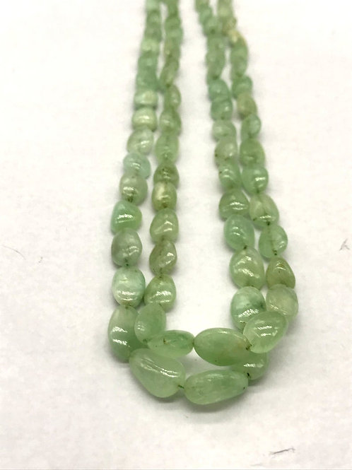 Emerald Tumbles Beads Natural gemstone Necklace Gems for jewellery tumbled stone