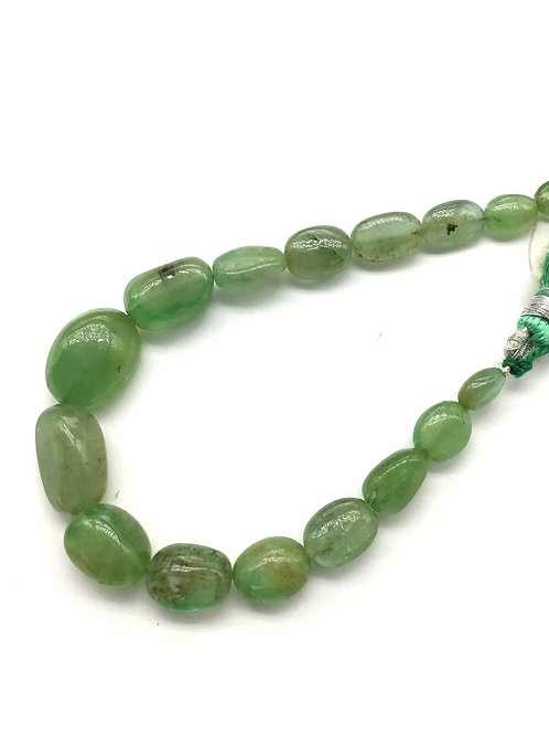 Emerald Tumble Gemstone necklace 7'' Jewellery Making Emerald Tumble Set