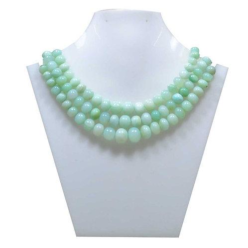 Blue Opal - Peru Smooth Balls 1 Strand Gemstone  Jewelry Beads Handmade Natural