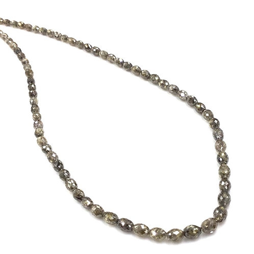 Light Brown Diamond Long Drilled Beads 16 Inches 3.5x2.5 To 4.5x3.5mm Approx
