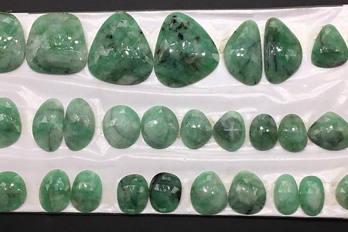 Emerald rose cut Mix Fancy Shape Natural Gemstone 1 Pair Set Jewellery makin