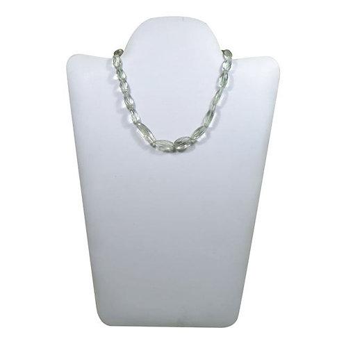 Green Amethyst Tumble 16'' Brazil checker cut Gemstone 1 Strand  Jewelry Beads