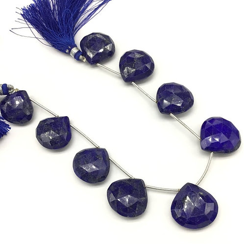 Lapis Lazuli 8 '' Faceted Almond Fancy 1 strand Natural Gemstone