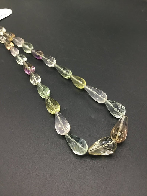Mixed Gems Gemstone Drops Necklace Gemstone Natural 16'' Drops Necklace GEMS