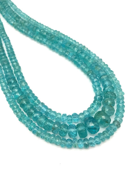 Neon Apatite 16 '' Faceted Beads AAA + Quality Blue Apatite 100 % Natural