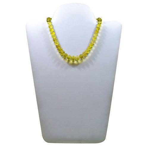 Lemon Quartz - 16'' Brazil Plain Beads Gemstone 1 Strand Jewelry Beads Hanndmade