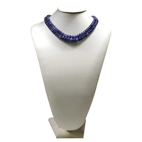 Iolite Necklace - 16'' Smooth Beads 1 Strand gemstone  Jewelry Beads