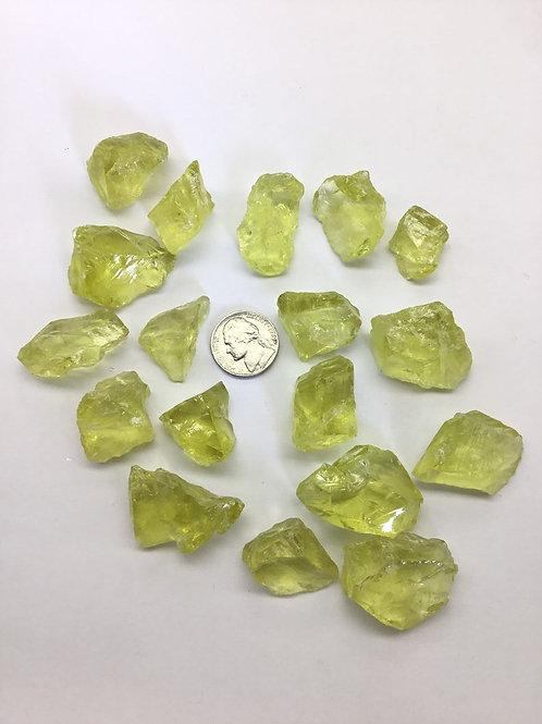 Lemon Quartz Rough Stone 18 pieces 900 carats approximately