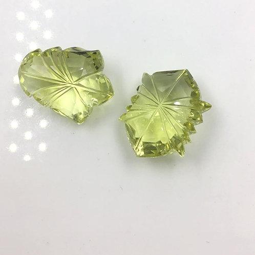 Natural Lemon Quartz Fancy Carving Loose Gemstone