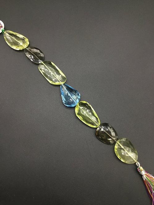 Multiple Semi Precious Gemstones 8 '' Faceted Cut Tumble 173.80 Ct 100 % Natural