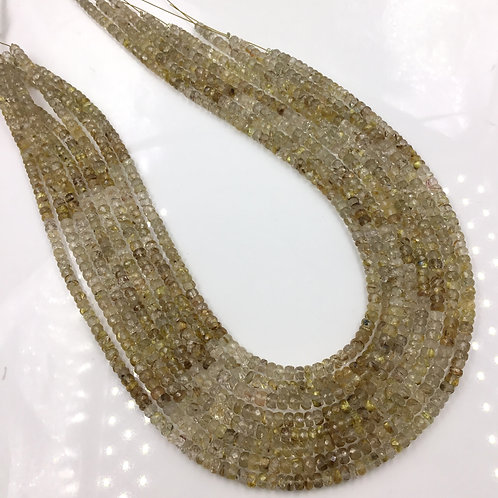 Golden Rutile Faceted Beads Shaded 1 strand Natural Gemstone