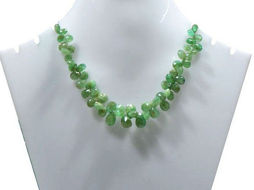 Emerald Pear Colombian Faceted Pear Gemstone 1 Strand Jewelry Beads