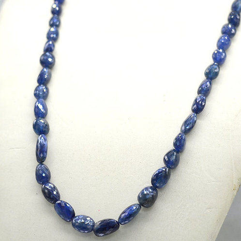 Blue Sapphire 16 '' Treated Faceted Tumble 1 Strand Gemstone 226.40 ct