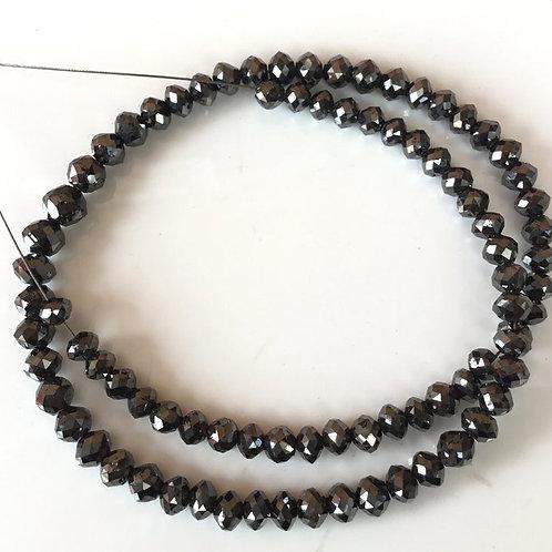 Black Diamond Faceted Beads Natural Gemstone