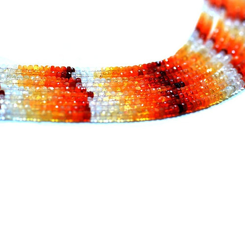 Mexican Fire Opal 16'' - Mexico Faceted Beads Gemstone 1 Strand Jewelry