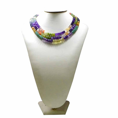 Multiple Mixed Gems - 16'' Africa Faceted Beads 1 Strand Gemstone Jewelry