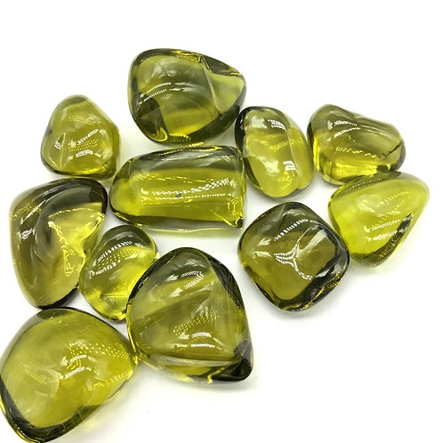 Olive Quartz Tumbled Gemstone AAA+ 1 Piece / 29 Ct Gemstone for Jewellery rings