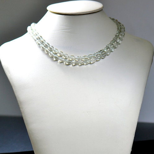 Green Amethyst Drops 16'' Brazil Faceted Drops 1 Strand Gemstone  Jewelry