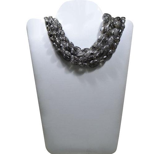 Black Rutile - 16'' Sri-Lanka Plain Tumble 1 Strand Gemstone  Jewelry Beads