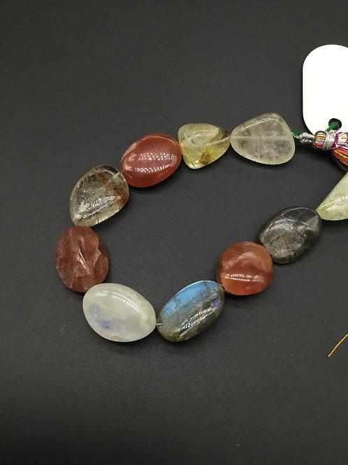 Multiple Semi Precious Gemstones 8 '' Natural Gemstone Necklace Handmade 194 Ct