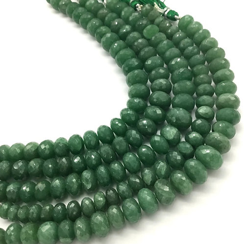 Green Quartz Faceted Beads 8''inch 1 strand